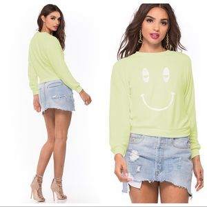 NWT! Wildfox SLEEPY SMILEY SOMMERS SWEATER